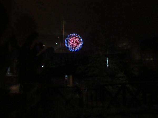 菅平で年末の打ち上げ花火