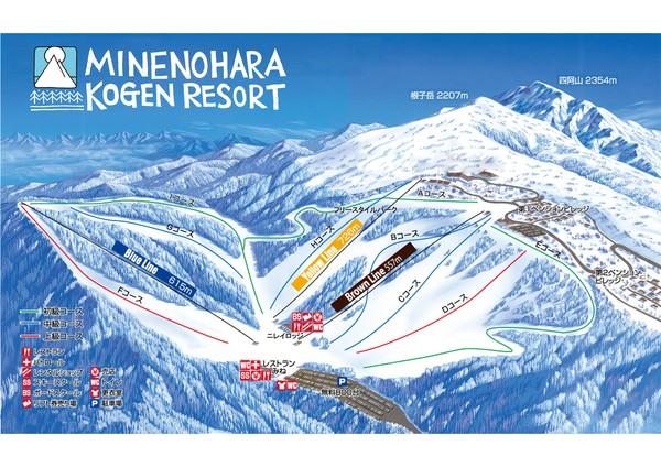 スキー場のマップ!参考にお出かけくださいね!