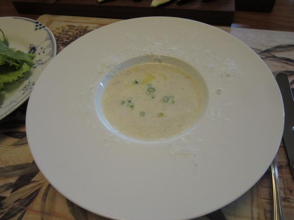 蕎麦粉のスープ