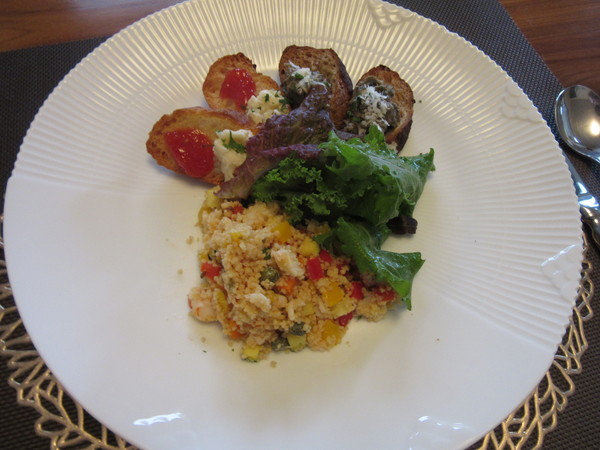ナスのキャビア風&夏野菜とクスクス